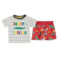 Pantaloni scurti Set bebelusi Tricou Crafted Essentials And pentru baieti