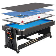 MightyMast 7ft REVOLVER 3in1 Pool Air Ping Pong Table