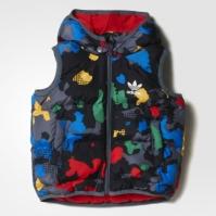 Vesta colorata adidas cu gluga S95930 unisex copii