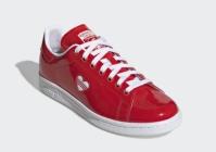 Pantofi sport rosii piele adidas V Day Stan Smith femei