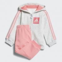 Trening adidas roz cu gri fetite