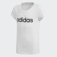 Tricou alb bumbac adidas Essentials Linear DV0357 copii