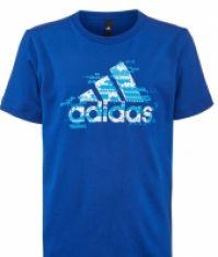 Tricou bumbac albastru adidas Youth Boy CD1984 baietei