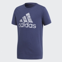 Tricou mov bumbac adidas Badge of Sport CV6142 baietei