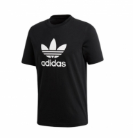 Tricou negru bumbac adidas Trefoil CW0709 barbati