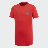 Tricou rosu bumbac adidas FC Bayern baieti