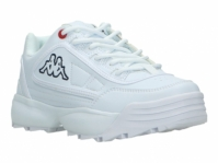 Pantofi albi cu talpa groasa Kappa Rave femei