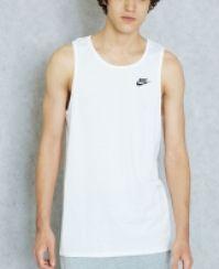 Maiou alb bumbac Nike M NSW CLUB EMBRD FTRA barbati