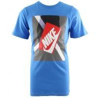 Tricou albastru bumbac Nike Youth Shoe Box baietei