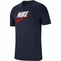 Tricou bleumarin bumbac Nike Sportswear Brand Mark barbati