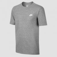 Tricou gri bumbac Nike NSW Heather 827021-091 barbati
