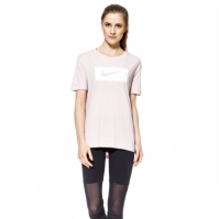 Tricou roz bumbac Nike Drop Tail Swoosh femei