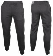Pantaloni sport conici gri inchis Puma Essentials Fleece Knit 851753-40 barbati