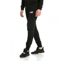Pantaloni sport conici Puma Essentials Fleece Knit 851753-01 barbati