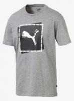 Tricou bumbac gri Puma Cat Brand Graphic barbati