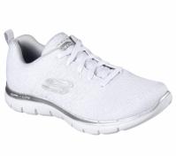 Adidasi sport albi Skechers Flex Appeal 2.0 femei