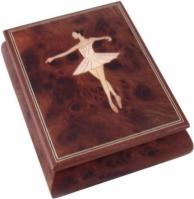 Cutie muzicala din lemn pentru bijuterii
