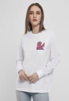 Abstract Colour cu maneca lunga pentru Femei alb Mister Tee