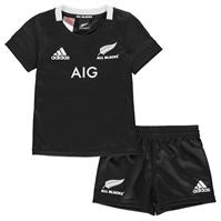 adidas New Zealand All Back Mini Rugby Kit 2018 2019