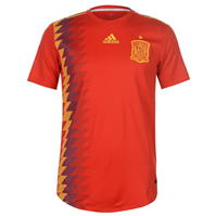 Tricou fotbal Authentic 2018 adidas Spania Home