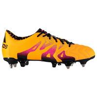 Ghete de fotbal adidas X 15.1 SG din piele pentru Barbati