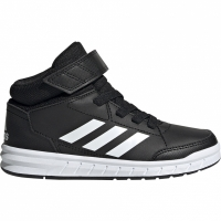 Adidasi copii Adidas AltaSport Mid K negru And alb G27113