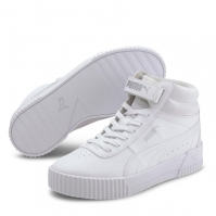 Adidasi inalti Puma Carina pentru fetite alb