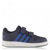Adidasi sport adidas adidas Hoops pentru Bebelusi bleumarin albastru alb
