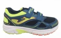 Adidasi sport pentru copii Joma Jvitaly 2003 bleumarin-fluor Velcro