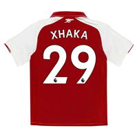 Puma Arsenal Home Xhaka Shirt 2017 2018 pentru copii