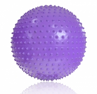 Minge pentru gimnastica cu PROFIT 65cm MASSAGE violet