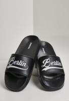 Berlin City Slides negru-alb Schlappos