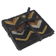 Biba Biba Bright Beaded Coasters