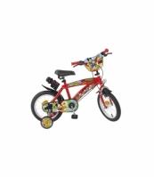 Mergi la Bicicleta Copii - Baieti, Disney Mickey Mouse, 14 Inch, 4-6 Ani, Toimsa
