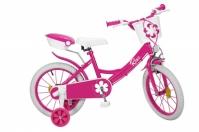 Bicicleta Copii - Fete, Colors roz, 16 Inch, 5-7 Ani, Toimsa