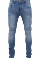 Blugi Slim Fit Biker albastru-washed Urban Classics