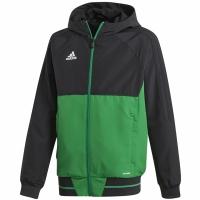 Bluza de trening adidas TIRO 17 negru-verde BQ2788 copii teamwear adidas teamwear