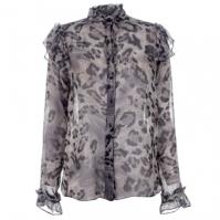 Bluza albastru Chameleon Leopard pentru femei