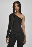 Mergi la Bluza asimetrica maneca lunga pentru Femei negru Urban Classics