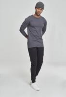 Bluza barbati cu manca lunga fitted gri carbune Urban Classics