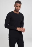 Bluza barbati cu manca lunga fitted negru Urban Classics