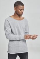Bluza cu guler rotund long gri Urban Classics