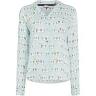Bluza cu maneca lunga Maison de Nimes Hoot aop woven