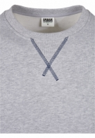 Bluza cusaturi netede Organic contrast gri-bleumarin Urban Classics