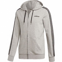 Bluza de trening Adidas Essentials 3 Stripes Fullzip gri DU0473