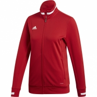 Bluza de trening Adidas Team 19 W rosu DX7326 femei teamwear adidas teamwear