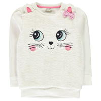Bluza de trening Crafted Cat Fur cu guler rotund pentru fete pentru Bebelusi