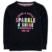 Bluza de trening Crafted Velour pentru fete pentru Bebelusi