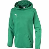 Bluza de trening Hanorac For Puma Liga Casuals verde 655636 05 pentru copii pentru Copii