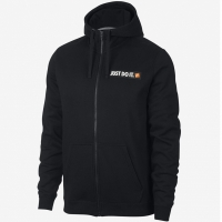Bluza de trening Hanorac Nike M NSW HBR FZ FLC negru 928703 010